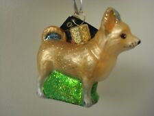 Nwt and Box Old World Christmas Chihuahua Glass Blown Ornament