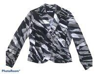 STEILMANN women's Monochrome Cotton Jacket UK 14 G8
