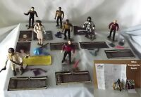 Vintage Star Trek Next Generation, Generations Mini-Playsets Playmates Figures