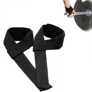 1Pair Bodybuilding Wraps Grips Straps Brace Band Wrist Weightlifting Straps