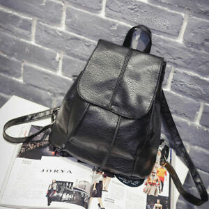 Women Girls Ladies Backpack Small Travel School Shoulder Bag PU Leather Rucksack