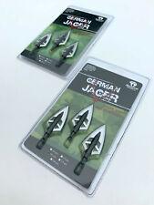 2 packs Bearpaw archery German Jager fixed 2 blade hunting broadhead 145 grain
