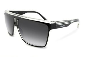 Carrera 22 Unisex Black & White Sunglasses Sports Racing Retro UV Protection