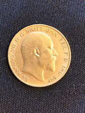 1902 Edward VII London Mint Half-Sovereign Gold Coin