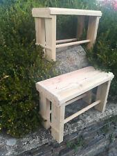 Pareja BANCOS madera. Modelo Vergel. Largo 58 cms.
