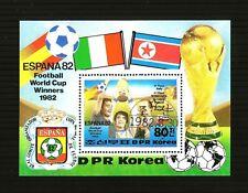 Korea - Souv.Sheet of Stamp Year 1982 cto Football World Cup Winners