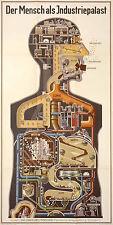 POSTER-Fritz Kahn Machine Man tedesco (PICTURE POSTER medico Arte Astratta)
