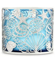 Sparkling Shells 3-Wick Candle Holder Sleeve Bath & Body Works SHIPS FREE!