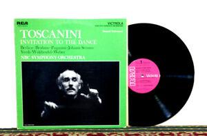 Toscanini, NBC Symphony, Invitation To The Dance, 1968 LP Romantic, EX/EX+ Vinyl