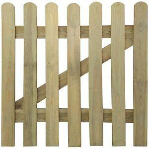 Outdoor Wooden Garden Gate Fence Panel Entrance Picket Pinewood Door Barrier