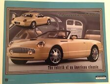 """Ford Thunderbird 2000 Rebirth of a American Classic 8"""" X 10"""" Car Poster Own It!!"""