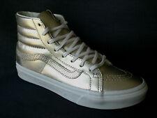 VANS SK8-Hi Slim Damen High-Top Leder Sneaker Metallic Wheat Gold/Marshallow Neu