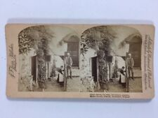 Vintage Stereo View Stereoscopic Photo: Underwood: Chapel St, Cloveley: Maid