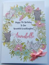 Personalised Cat 1st Birthday Card Daughter Granddaughter Niece 2 3 4 5 6 7 8 9