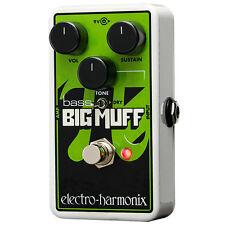 Electro-Harmonix Nano Bass Big Muff Pi Fuzz Distortion Effects Pedal +Picks