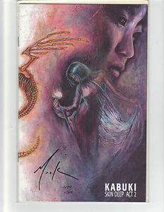 KABUKI Skin Deep act 2 NM 1997 DF VARIANT SIGNED BY DAVID MACK w/ COA 474 of 500