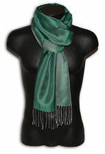 PASHMINA SCARF MAN WOMAN SILK DOUBLE FACE GREEN S