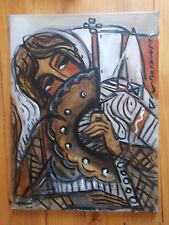 Acrylique sur Toile du Peintre  Hrasarkos , Portrait