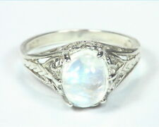 Moonstone (Blue) Natural Genuine Gemstone Sterling Silver Lady,s Ring RSS,791