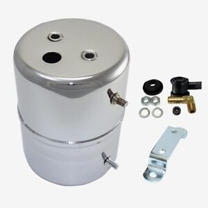 Vacuum Cannister Resevoir Chrome Tank Brake Booster Canister Chevy Ford Dodge