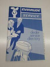 1975 Evinrude Dealer Service Directory book