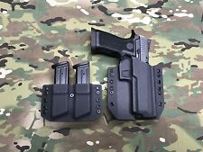 Black Kydex SIG P320 X5 Full Size Holster with Dual Magazine Carrier