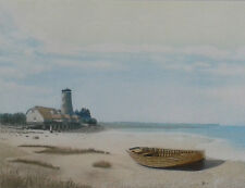 Langstone Harbour. Framed coloured etching 123/250 by Ashley D Bolch (1950-2016)