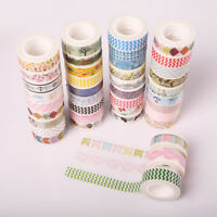 5Roll Washi Tape designer Decorative Sticky Paper Masking Tape Adhesive 15mm*10m