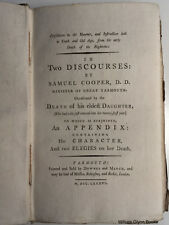 1786 REV. COOPER Death CONSOLATION TO THE MOURNER Christianity CHRISTIAN PIETY