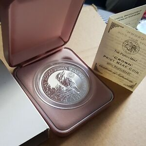 Australia kookaburra 2oz Silver Proof Coin. Crown   Privy Mark..#1994