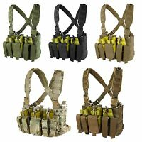 Condor MCR5 MOLLE PALS Rapid Assault Chest Rig w/ Pistol & Rifle Magazine Pouch