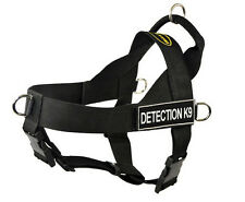 Dean & Tyler DT Universal No Pull Nylon Dog Harness With Patches Stop Pulling Small Detection K9