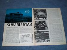 1970 Subaru Star Vintage Drive Report Info Article