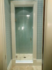 "Frameless shower door 28"" X 72"" 76"" or 78"" 3/8 Glass,/ Hardware combo"
