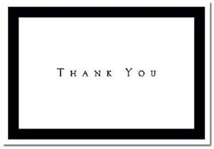 Black White Tuxedo Wedding Thank You Notes 50/pk