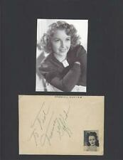 FRANCES GIFFORD SIGNED ALBUM PAGE AUTOGRAPH DISPLAY WITH COA