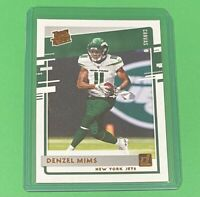 2020 Panini Donruss Denzel Mims Rated Rookie CANVAS PARALLEL SP Jets #323 RC 🔥