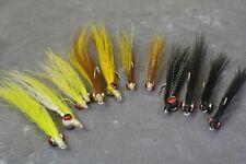 Clouser Minnow Flies - 12ct Assortment - Mustad Saltwater Duratin Hooks