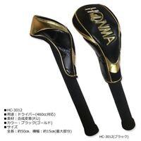 Honma Golf 4S head cover For driver 460cc Japan HC-3012 Black F/S JP