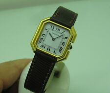 CARTIER TANK  MECHANICAL GOLDFILLED  27X27mm  VINTAGE RARE WRIST WATCH  FOR LADY