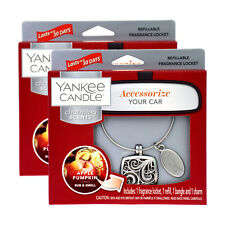 2 Yankee Candle Charming Scents Apple Pumpkin Car Fragrance Locket