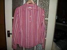 Mens' Paul Smith Pink Striped Long-Sleeved Shirt Size 44/10