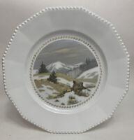 Antique Nymphenburg Porcelain Rudolf Sieck Letzer Schnee Hand Painted Art Plate