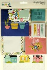 SIMPLE STORIES  [DOMESTIC BLISS]  Snap Pack - 115 Cards & Die Cuts- Save 50%