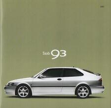 Saab 9-3 Brochure 2001 - Saab 93 S, SE, Aero - MINT