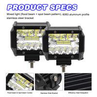 2 Pcs 480W LED LUCE FARO 12V 80V LAMPADA DA LAVORO FARETTO AUTO BARCA CAMION KLW