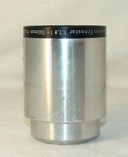 Zeiss Ikon ERNOSTAR 1,8/100mm.  projector Lens,Germany,rare