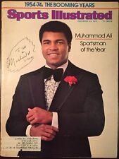 Muhammad Ali (died 2016) Signed Sports Illustrated SI 12/23/74 Boxing HOF SOY