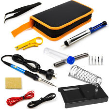 60W Soldering Iron Kit Electronics Welding Irons Tool Adjustable Temperature