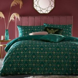 Furn Bee Deco Emerald  Reversible Duvet Cover Sets